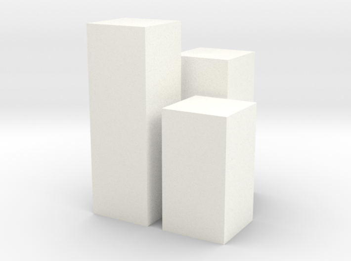 Triple Pedestals or Planters 1:12 scale 3d printed