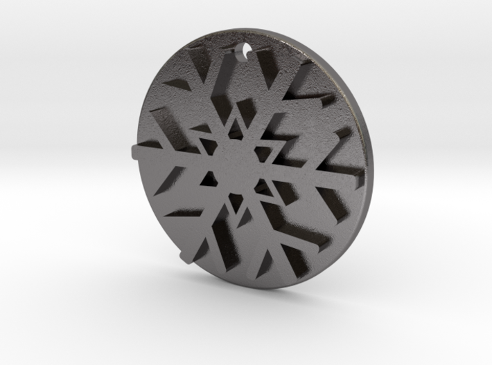 Snowflake Pendant / Keychain 3d printed