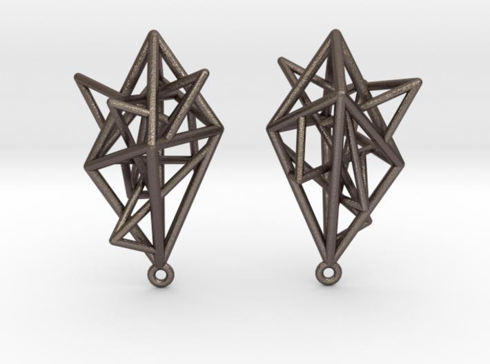 Urban Complexity Earrings 3d printed
