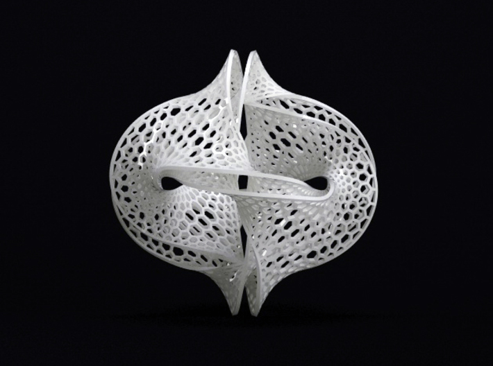 Borromean honeycomb moebius small 3d printed