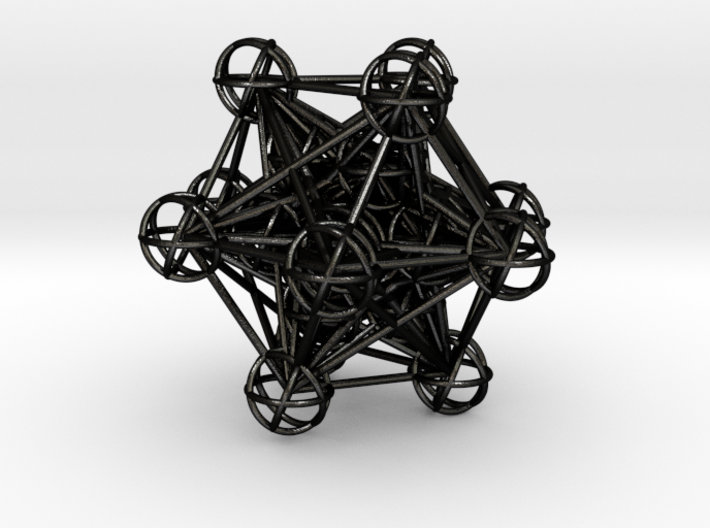The full 3d Metatrons Cube 59mm Sacred Geometry 3d printed