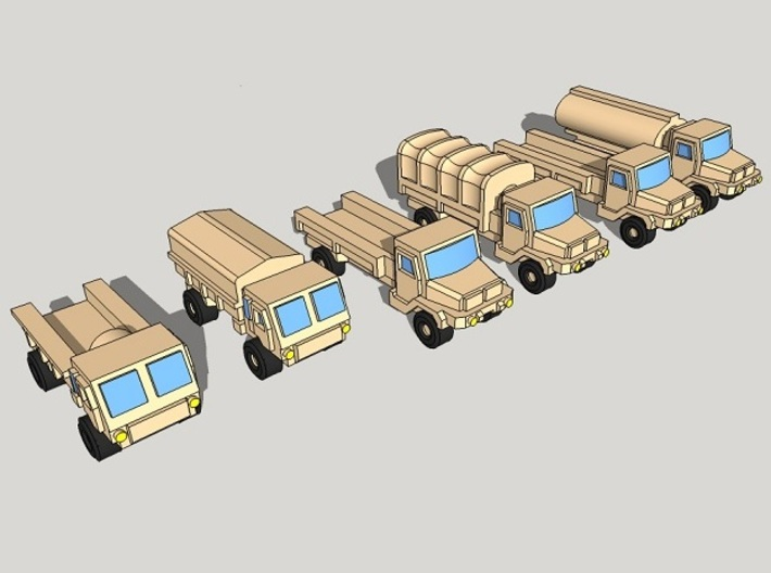 3mm SAMIL Trucks (12 Pcs) 3d printed