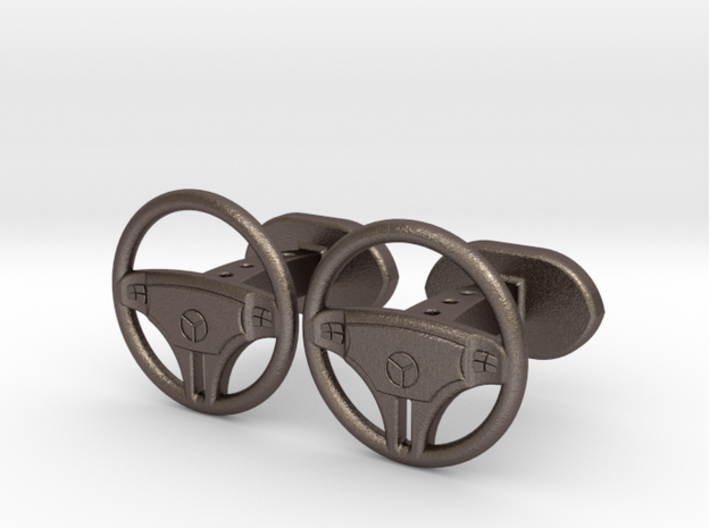 Mercedes steering wheel cufflinks 3d printed