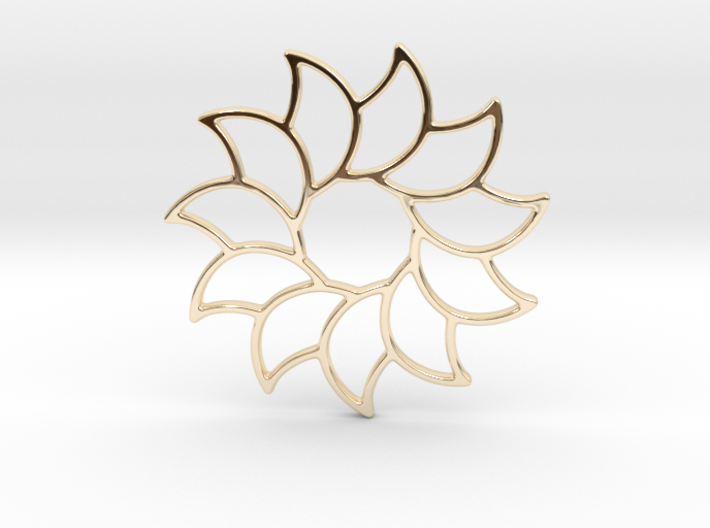 Dreamcatcher - Sunflower 3d printed