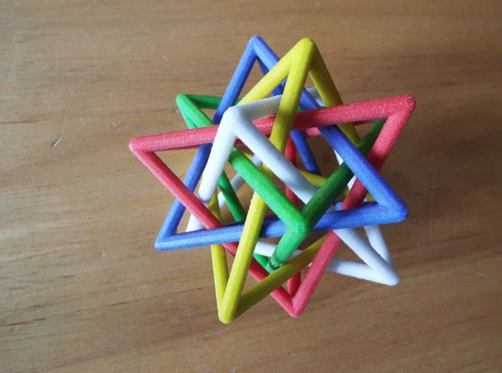 Interlaced Tetrahedra LH 3 Inch x 3 inch 3d printed