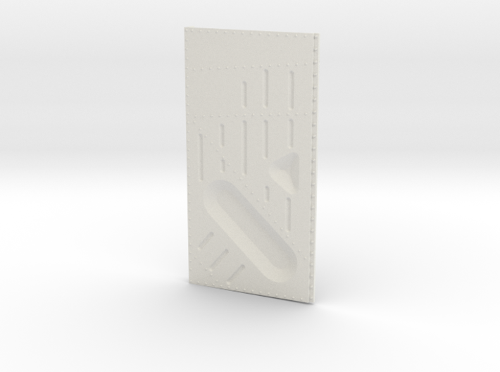 Ziroli Corsair Frame Door Left Outer 3d printed