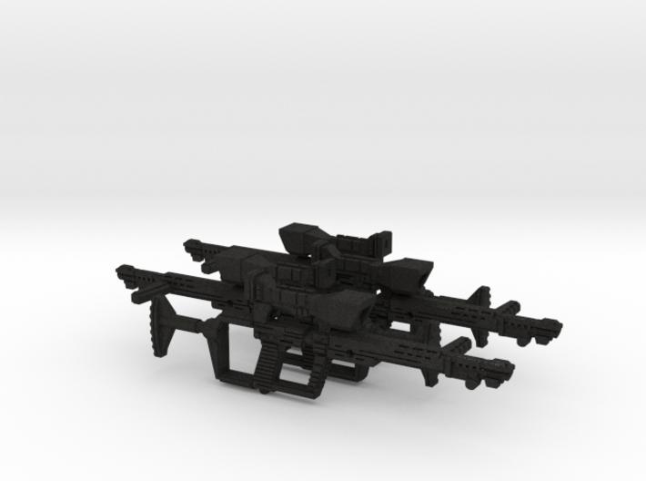 1:18th scale sci-fi rifles x4 3d printed