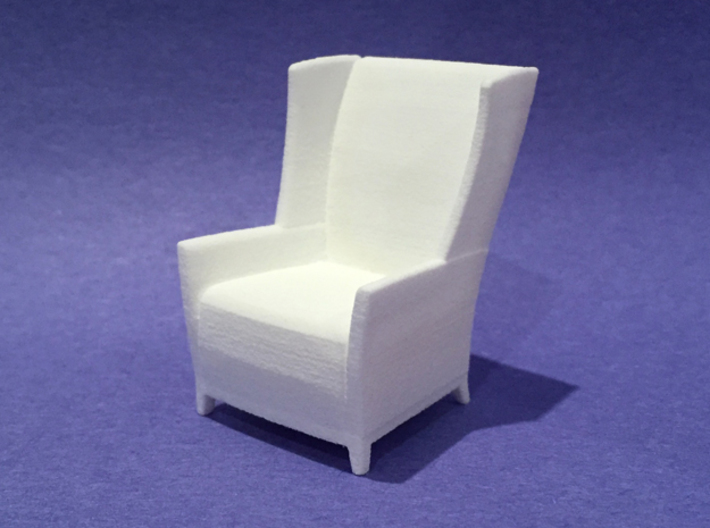 Apsen Wing Back Lounge 1:24 scale 3d printed