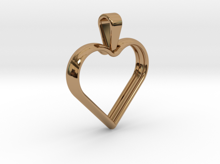 Simple heart pendant 3d printed