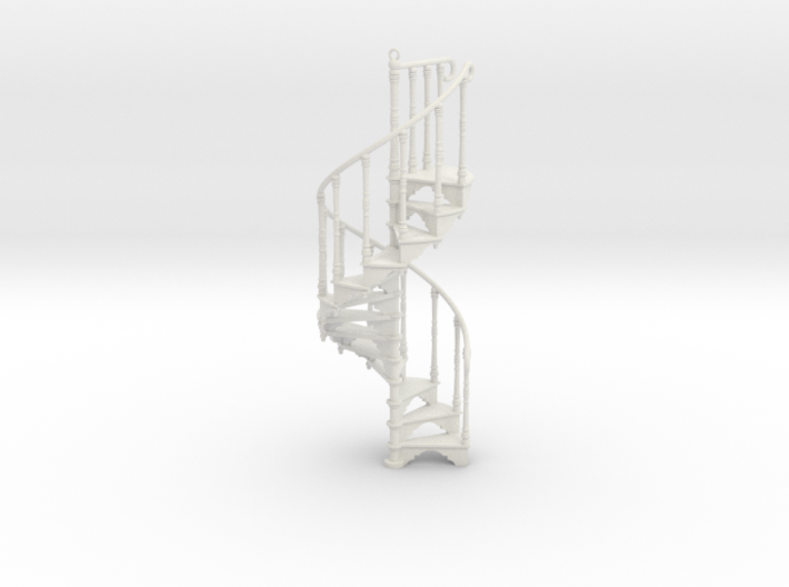 Spiral Staircase Ornament (1:24) 3d printed