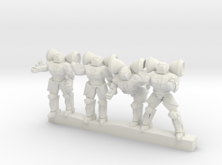 Shield Troopers 10mm 3d printed
