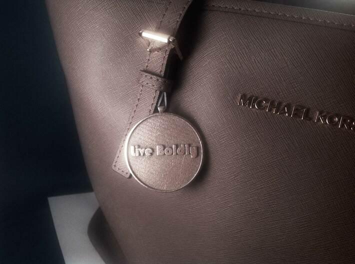 Steel - Avatar® pendant / keychain 3d printed Stainless Steel (backside)