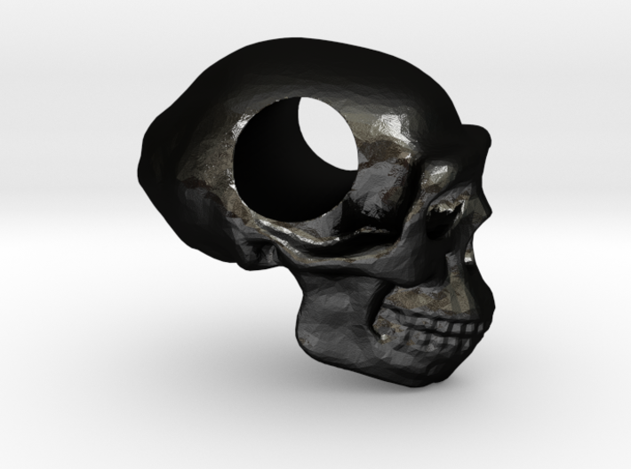 Homo erectus pendant 3d printed
