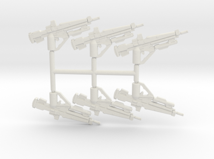 Hunter Battle Rifle Pack 3d printed