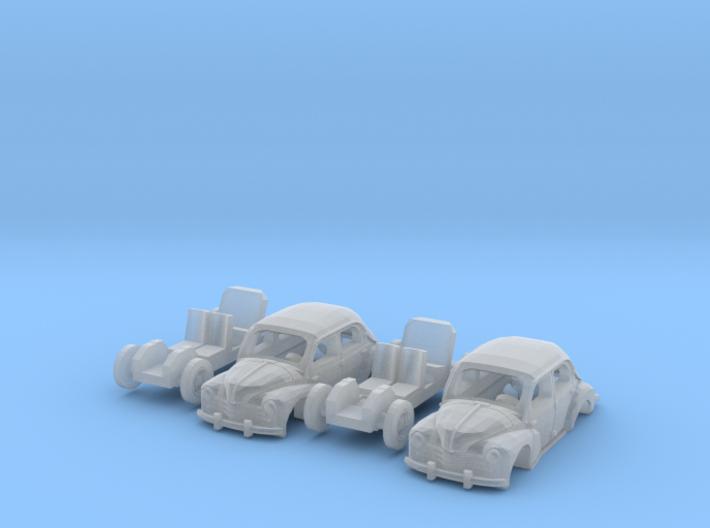 SET 2x Renault 4CV (N 1:160) 3d printed