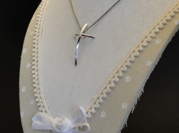 Pendant I.N.R.I. 3d printed Polished Silver - Chain not included.
