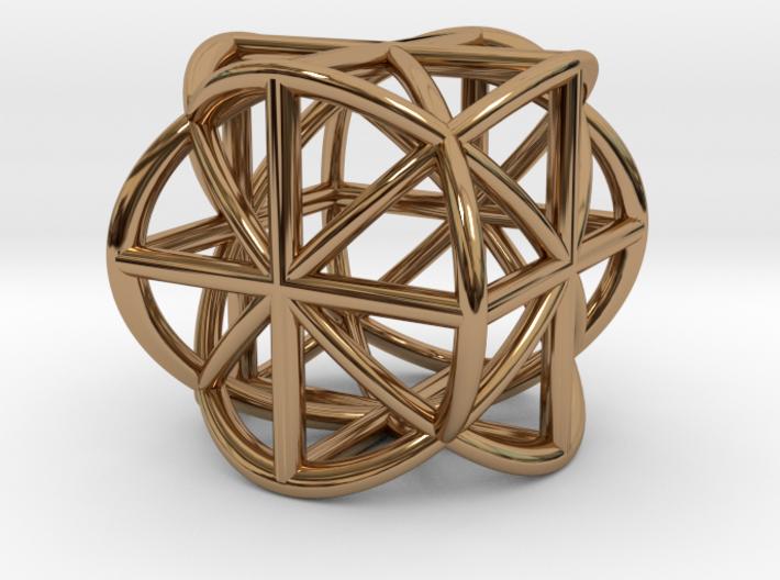 Cube-Ball Pendant 3d printed