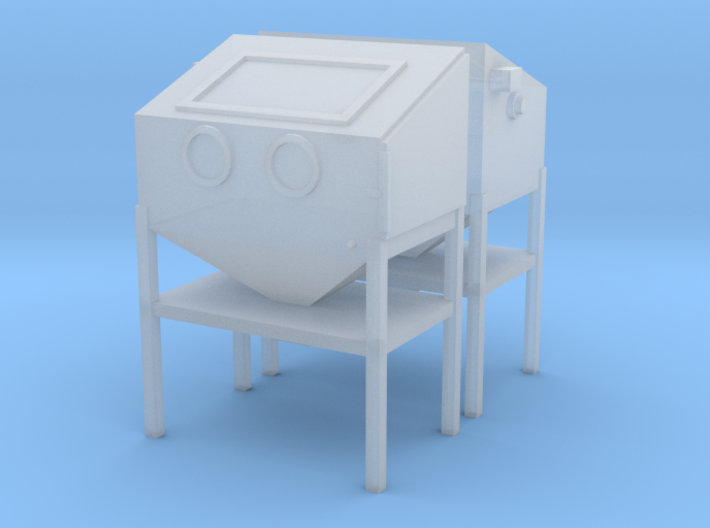 1/64 Sand Blasting Cabinet 2 Pack 3d printed