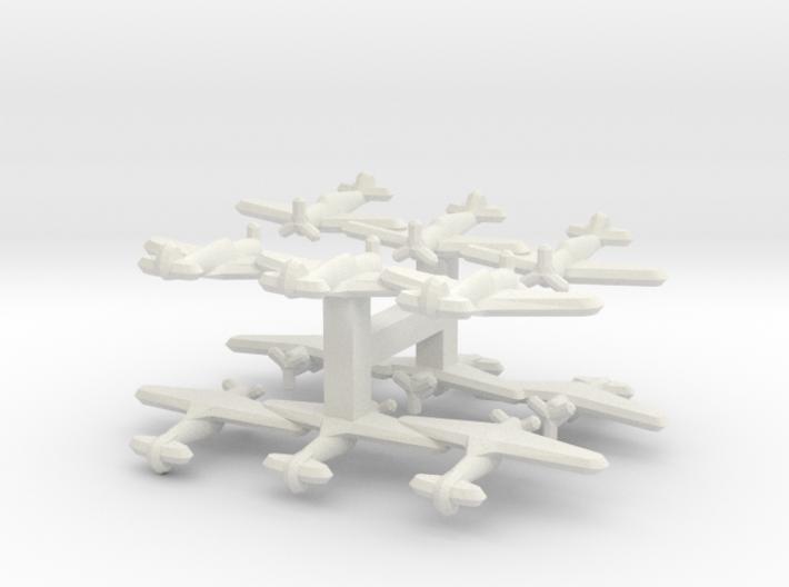 P-36/Hawk 75/Mohawk (Triplet) 1/900 x4 3d printed