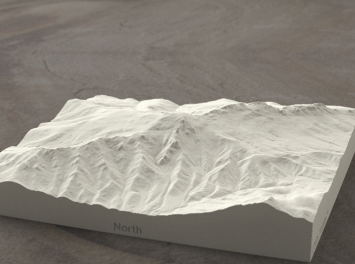 6'' Grandfather Mtn, N. Carolina, USA, Sandstone 3d printed