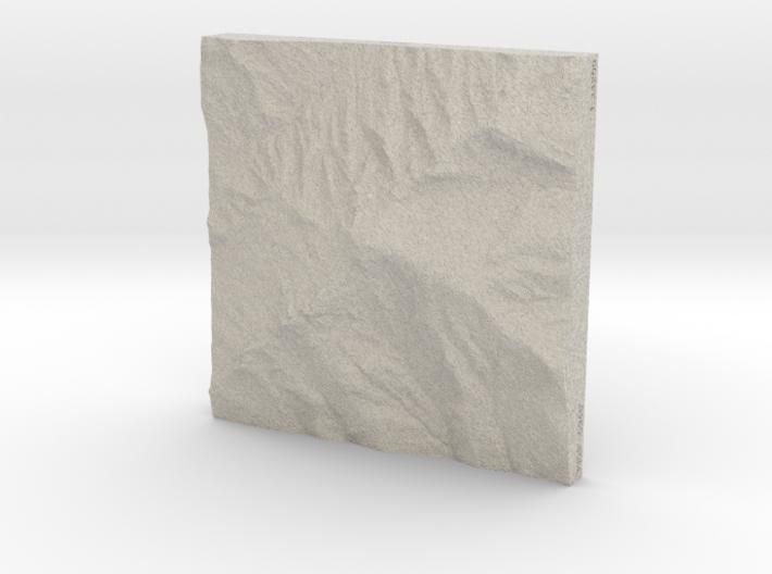 6'' Grandfather Mtn, N. Carolina, USA, Sandstone 3d printed