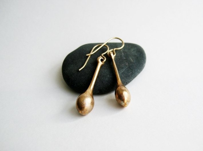 Teardrop Earrings - Bronze Age Earrings for Today 3d printed Simple - Elegant - Gorgeous