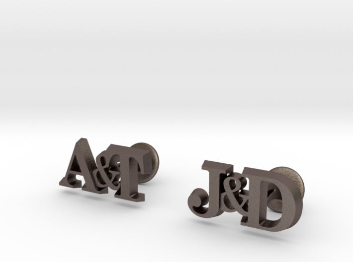 Personalised Initial Cufflinks 3d printed