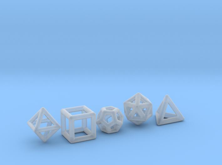 PLATONIC SOLIDS (full set) 3d printed