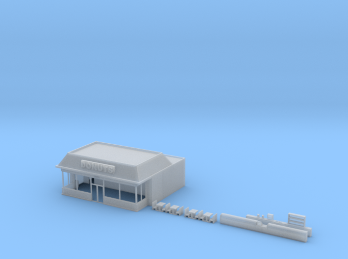 N-Scale Donut Shoppe 3d printed