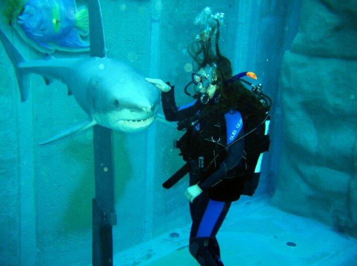 Minifig Shark Monument (knife handle) 3d printed Original Dive