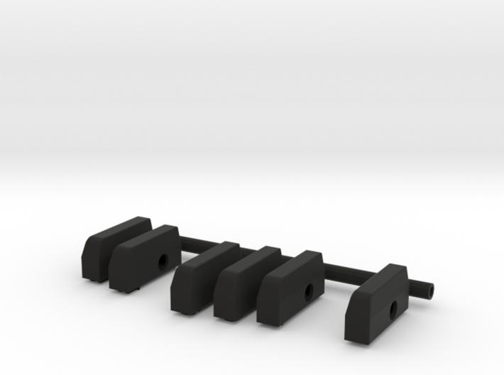 Piano Pendant - Black Keys 3d printed