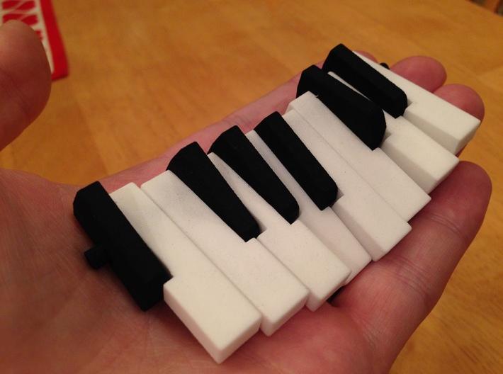Piano Pendant - White Keys 3d printed