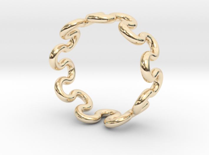 Wave Ring (17mm / 0.66inch inner diameter) 3d printed