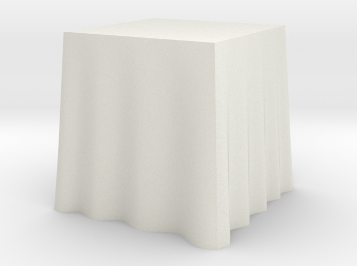 "1:24 Draped Table - 24"" square 3d printed"