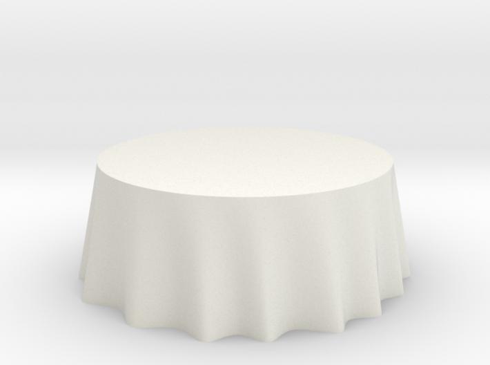 """1:48 Draped Table - 72"""" diameter 3d printed"""