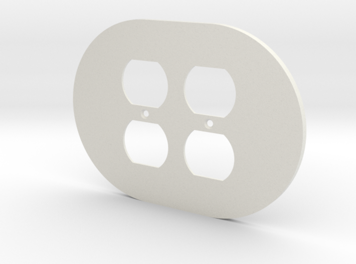 plodes® 2 Gang Duplex Outlet Wall Plate 3d printed