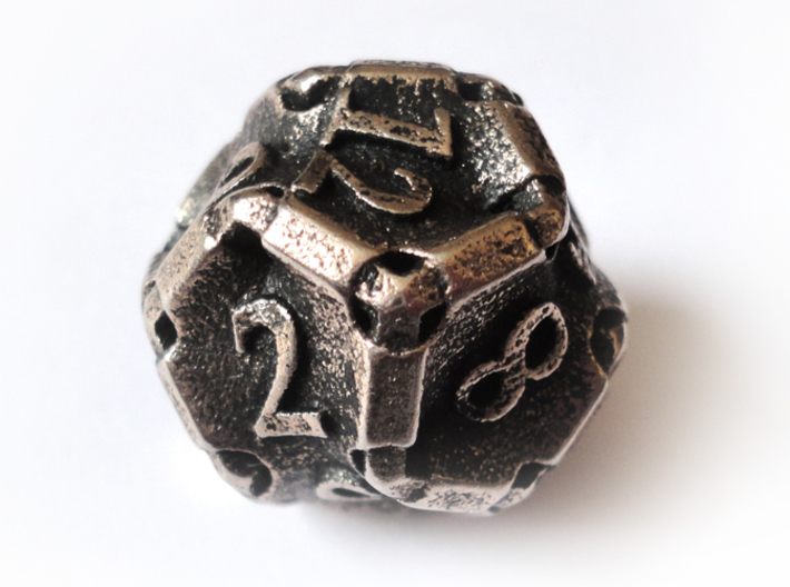 Stretcher Die12 3d printed In stainless steel and inked