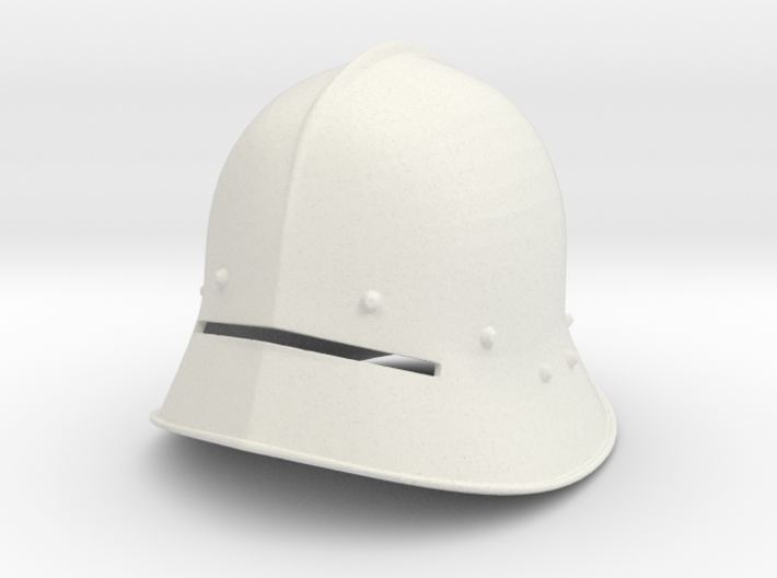 1:6 sallet Helmet 6th small size 3d printed