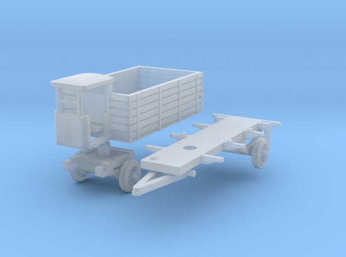 Anhänger mit Bremserhaus (N 1:160) 3d printed