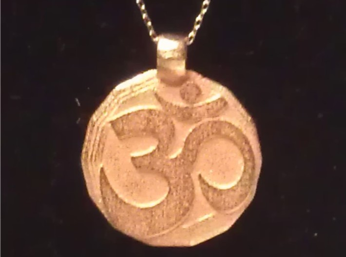 Large Om Pendant 3d printed