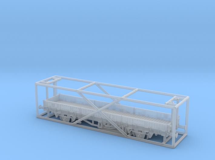 TT Fährboot-Rungenwagen Rbmms 55 der DB 3d printed
