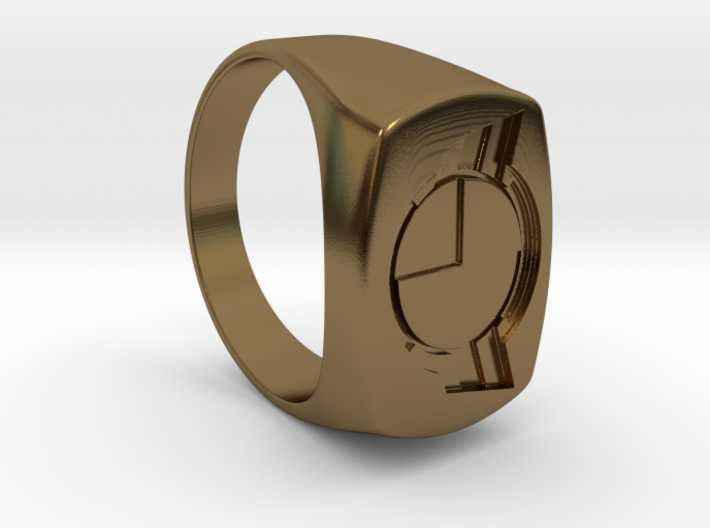 Test Squadron - Signet Ring - Size 11 - (Embed) 3d printed