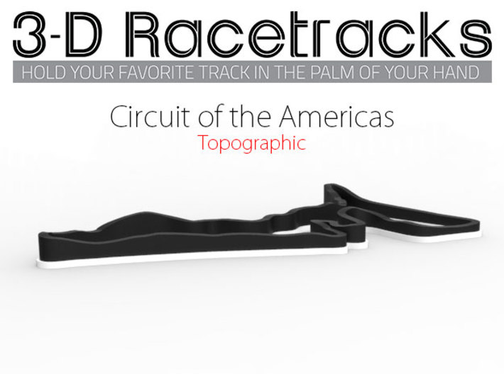 Circuit of the Americas | Topographic Large 3d printed