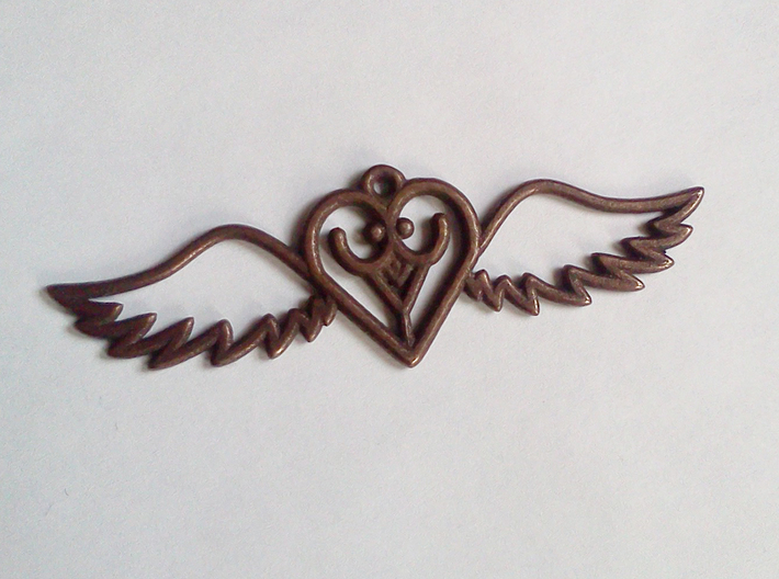 Flying Heart 3d printed