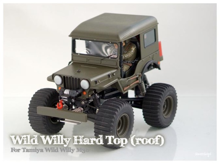 Simensays Wild Willy Hard Top (roof panel) 3d printed