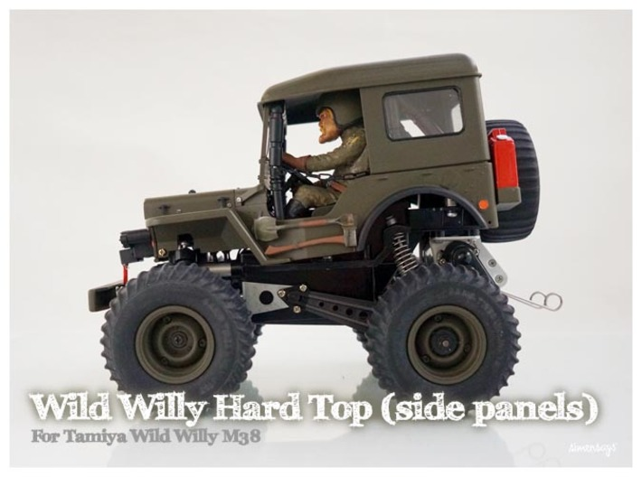 Simensays Wild Willy Hard Top (side panels) 3d printed