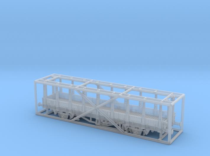 2161 TT Fährboot-Rungenwagen Rbmms 55 der DB 3d printed