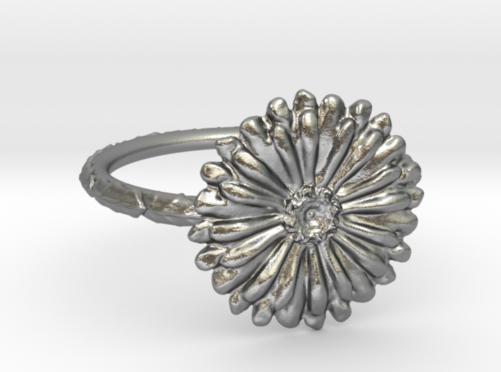 Thin Daisy Ring 7 3d printed