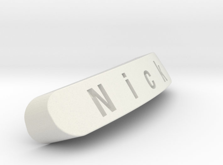 Nick Nameplate for SteelSeries Rival 3d printed