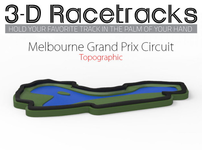 Melbourne Grand Prix Circuit 3d printed